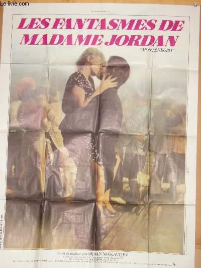 AFFICHE DE CINEMA - LES FANTASMES DE MADAME JORDAN - MONTENEGRO