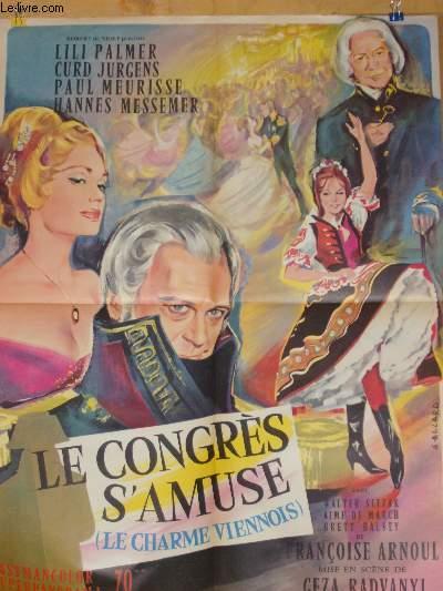 AFFICHE DE CINEMA - LE CONGRES S'AMUSE - LE CHARME VIENNOIS