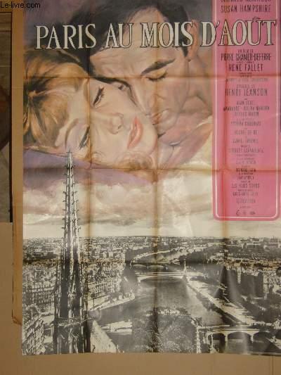 AFFICHE DE CINEMA - PARIS AU MOIS D'AOUT