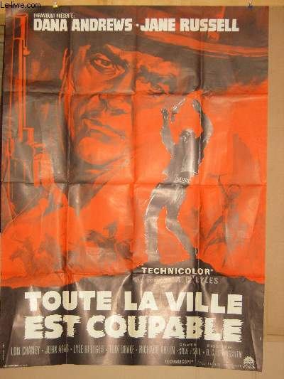 AFFICHE DE CINEMA - TOUTE LA VILLE EST COUPABLE