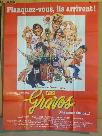 AFFICHE DE CINEMA - LES GRAVOS (UNE SACREE FAMILLE...)