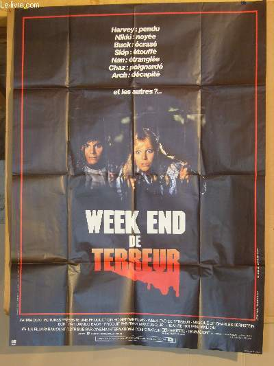 AFFICHE DE CINEMA - WEEK END DE TERREUR
