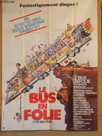 AFFICHE DE CINEMA - LE BUS EN FOLIE - THE BIG BUS