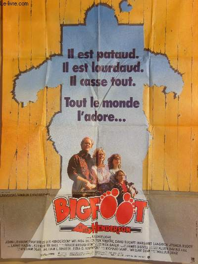 AFFICHE DE CINEMA - BIGFOOT ET LES HENDERSON