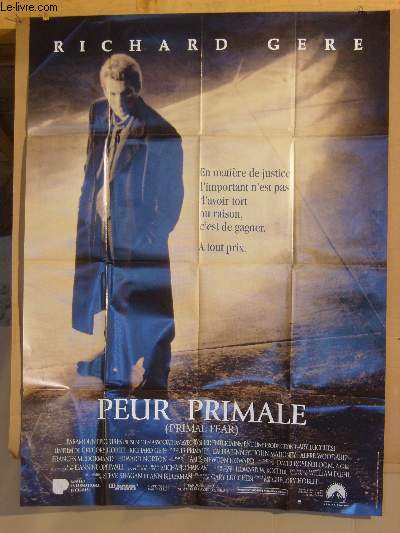 AFFICHE DE CINEMA - PEUR PRIMALE - PRIMAL FEAR