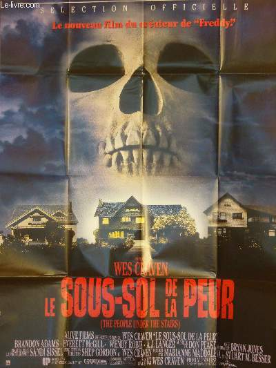 AFFICHE DE CINEMA - LE SOUS-SOL DE LA PEUR - THE PEOPLE UNDER THE STAIRS