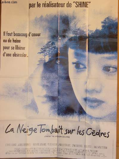 AFFICHE DE CINEMA - LA NEIGE TOMBAIT SUR LES CEDRES - SNOW FALLING ON CEDARS