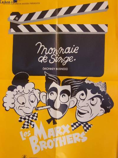 AFFICHE DE CINEMA - MONNAIE DE SINGE - MONKEY BUSINESS - LES MARX BROTHERS