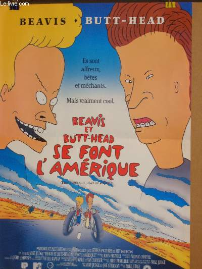 AFFICHE DE CINEMA - BEAVIS ET  BUTT-HEAD SE FONT L'AMERIQUE - BEAVIS AND BUTT-HEAD DO AMERICA