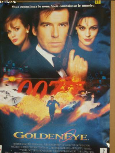 AFFICHE DE CINEMA - GOLDENEYE 007