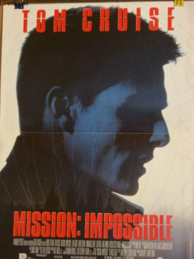 AFFICHE DE CINEMA - MISSION IMPOSSIBLE
