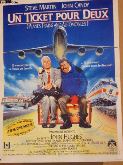 AFFICHE DE CINEMA - UN TICKET POUR DEUX - PLANES, TRAINS AND AUTOMOBILES