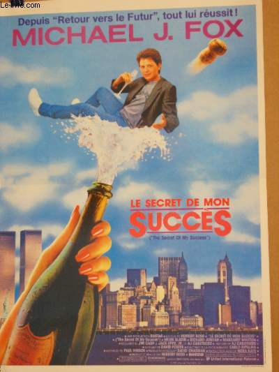 AFFICHE DE CINEMA - LESECRET DE MON SUCCES - THE SECRET OF MY SUCCESS