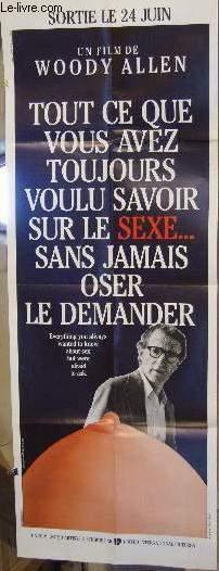 AFFICHE DE CINEMA - TOUT CE QUE VOUS AVEZ TOUJOURS VOULU SAVOIR SUR LE SEXE SANS JAMAIS OSER LE DEMANDER