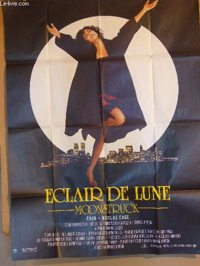 AFFICHE DE CINEMA - ECLAIR DE LUNE - MOONSTRUCK