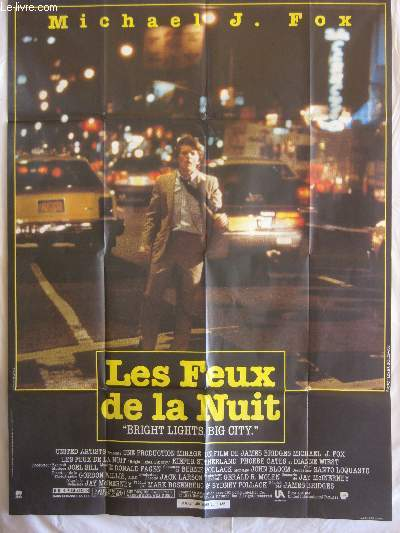 AFFICHE DE CINEMA - LES FEUX DE LA NUIT  (Bright lights, Big city)