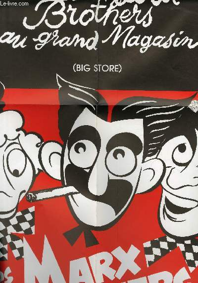 AFFICHE DE CINEMA - LES MARX BROTHERS AU GRAND MAGASIN