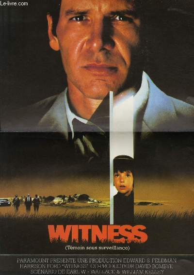 AFFICHE DE CINEMA - WITNESS