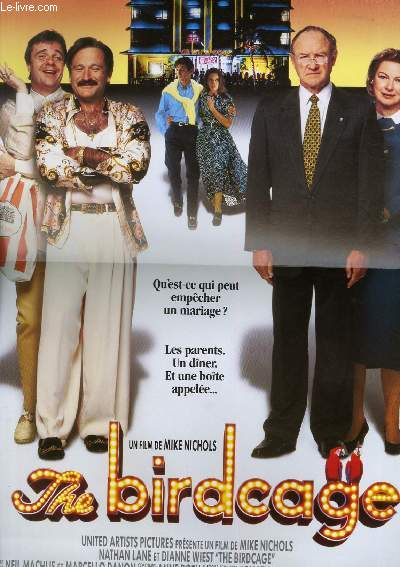 AFFICHE DE CINEMA - THE BIRDCAGE