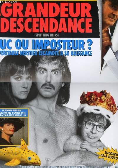AFFICHE DE CINEMA - GRANDEUR ET DESCENDANCE