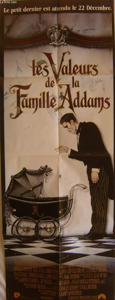 AFFICHE DE CINEMA - LES VALEURS DE LA FAMILLE ADAMS