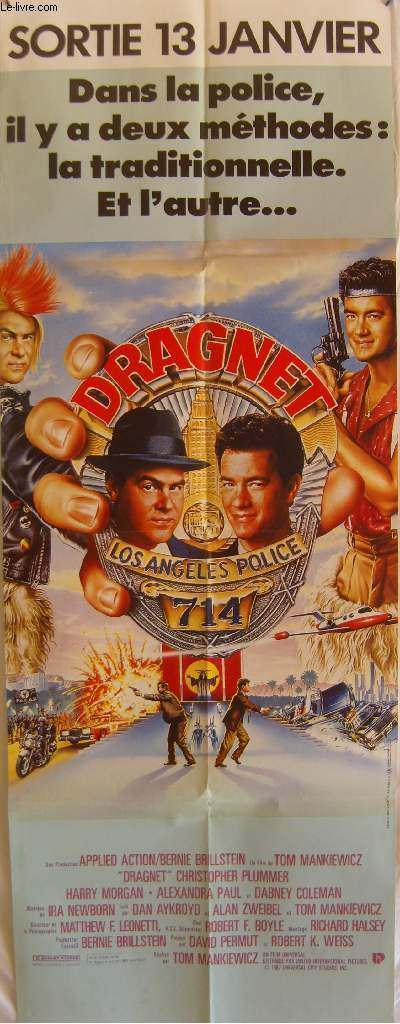 AFFICHE DE CINEMA - DRAGNET