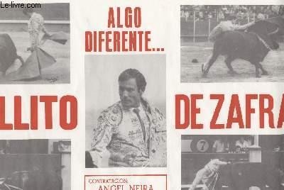 AFFICHE CORRIDA - ALAGO DIFERENTE... GALLITO DE ZAFRA