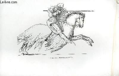 GRAVURE 19eme NOIR ET BLANC - CAVALIER OU HOMME D'ARMES