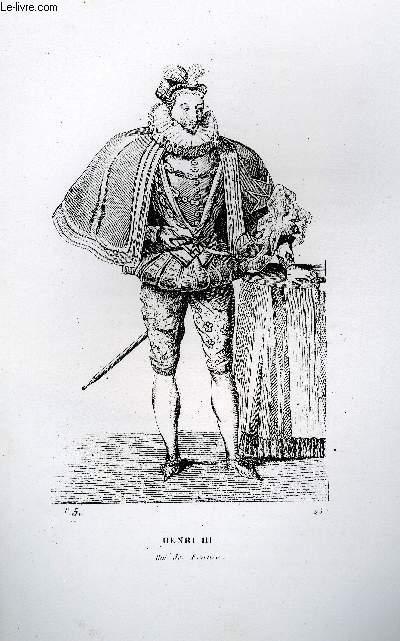 GRAVURE 19eme NOIR ET BLANC - HENRI III