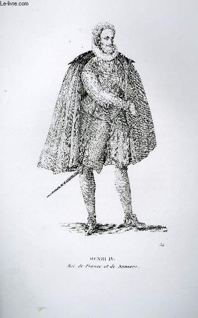 GRAVURE 19eme NOIR ET BLANC - HENRI IV