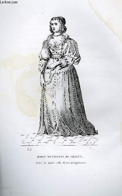 GRAVURE 19eme NOIR ET BLANC - MARIE-HENRIETTE DE FRANCE