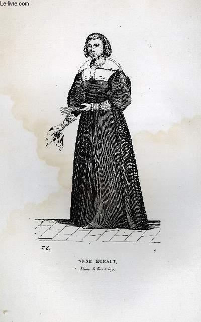 GRAVURE 19eme NOIR ET BLANC - ANNE HURAULT