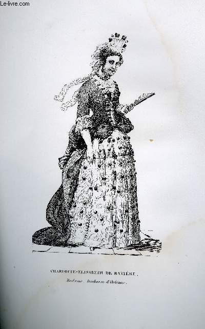 GRAVURE 19eme NOIR ET BLANC - CHARLOTTE-ELISABETH DE BAVIERE