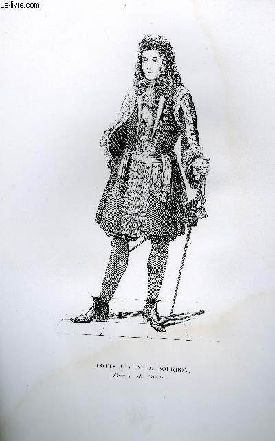 GRAVURE 19eme NOIR ET BLANC - LOUIS-ARMAND DE BOURBON