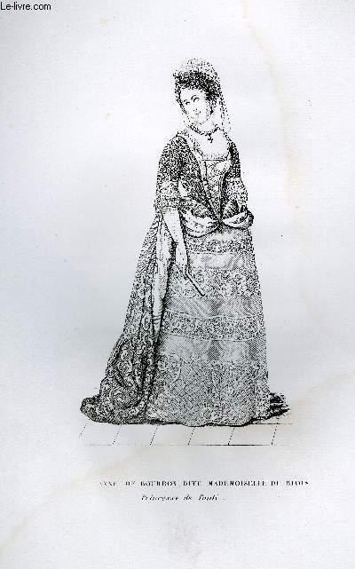 GRAVURE 19eme NOIR ET BLANC - MARIE-ANNE DE BOURBON