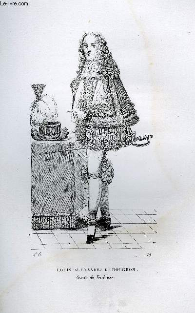 GRAVURE 19eme NOIR ET BLANC - LOUIS-ALEXANDRE DE BOURBON