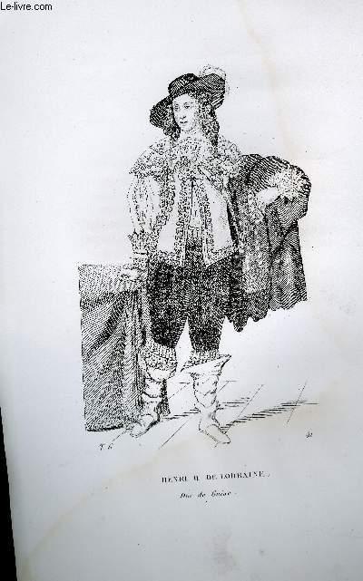 GRAVURE 19eme NOIR ET BLANC - HENRI II DE LORRAINE