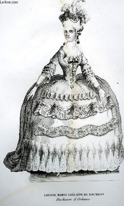 GRAVURE 19eme NOIR ET BLANC - LOUISE-MARIE-ADELAIDE DE BOURBON