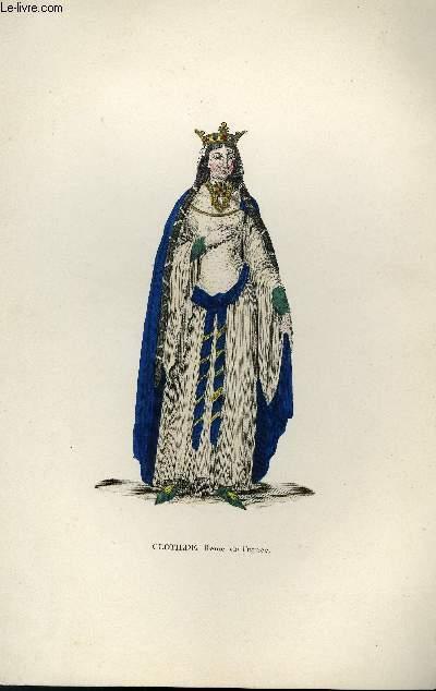GRAVURE 19eme COULEURS - CLOTHIDE (SAINTE)