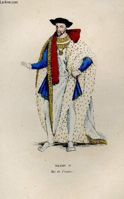 GRAVURE 19eme COULEURS - HENRI II