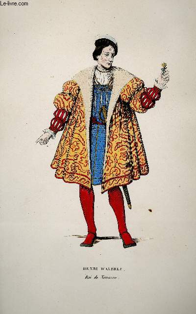 GRAVURE 19eme COULEURS - HENRI D'ALBERT