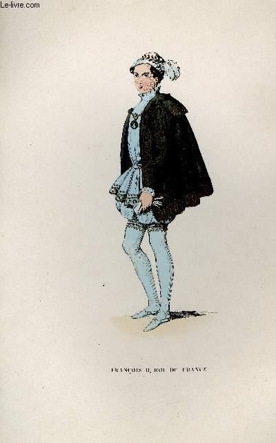 GRAVURE 19eme COULEURS - FRANCOIS II