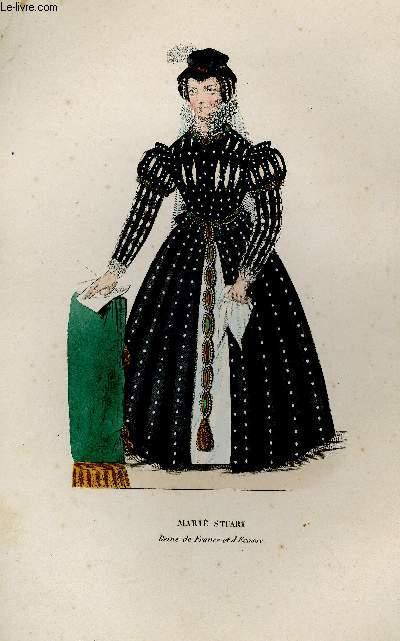 GRAVURE 19eme COULEURS - MARIE STUART
