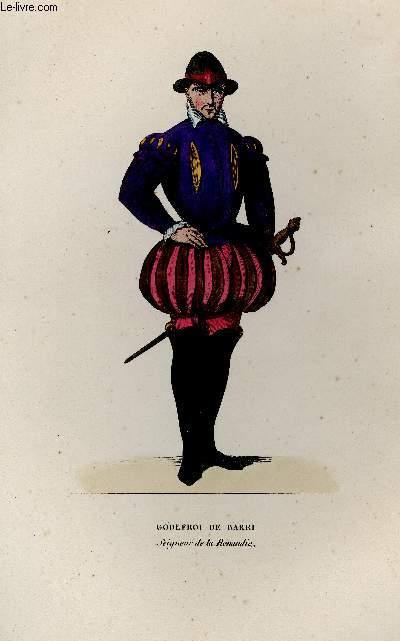 GRAVURE 19eme COULEURS - GODEFROI DE BARRI