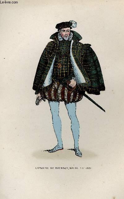 GRAVURE 19eme COULEURS - ANTOINE DE BOURBON
