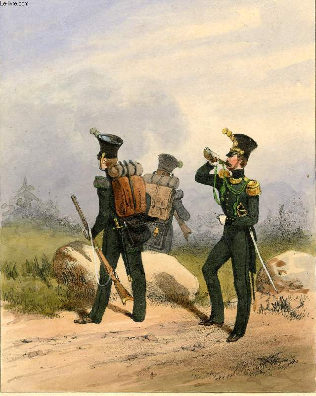 GRAVURE 19eme COULEURS - GALERIE MILITAIRE - N�156 - ARMEE DES ETATS SUISSES - N�1 - CANTON DE ZURICH INFANTERIE