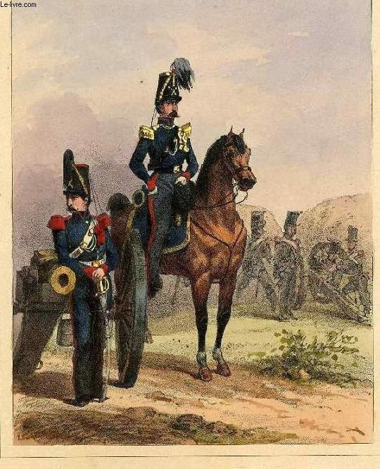 GRAVURE 19eme COULEURS - GALERIE MILITAIRE - N°77 - ARMEE BELGE - N°15 - ARTILLERIE A CHEVAL