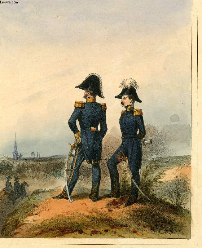 GRAVURE 19eme COULEURS - GALERIE MILITAIRE - N°65 - AARMEE BELGE - N°13 - GENERAL DE DIVISION ET AIDE DE CAMP