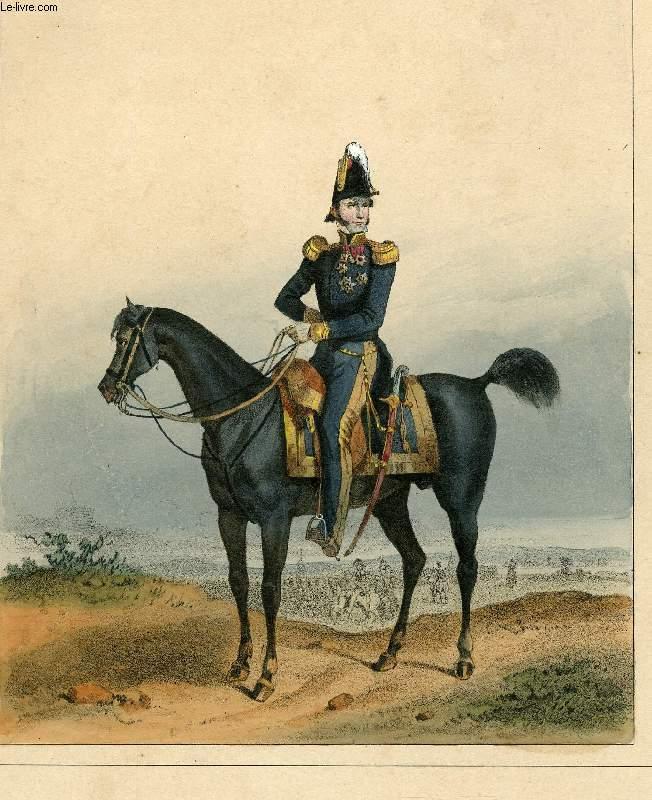 GRAVURE 19eme COULEURS - GALERIE MILITAIRE - N°9 - ARMEE BELGE - N°1 - LEOPOLD