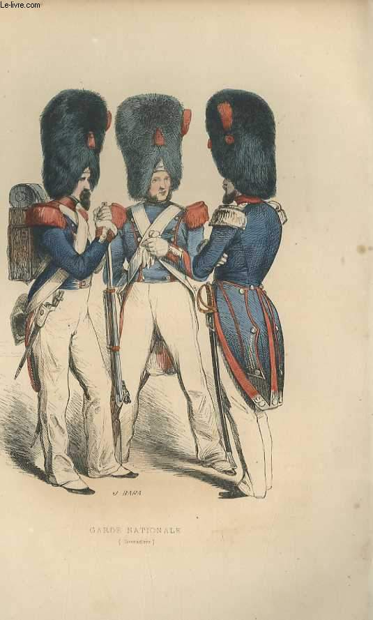 GRAVURES 19eme COULEURS - GARDE NATIONALE - GRENADIERS